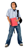 Casual student with a notebook Stock Photos