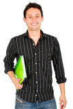 Casual student with a notebook Royalty Free Stock Images