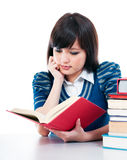 Casual Student Reading Book Royalty Free Stock Image