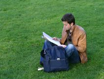 Casual student revising - aris Royalty Free Stock Photo