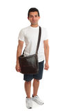 Casual student standing with bag Stock Photo