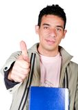 Casual student with thumbs up Royalty Free Stock Photo