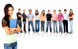 Casual students Royalty Free Stock Photos