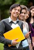 Casual students in the park Stock Image