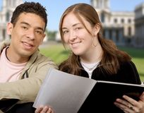 Casual students at university Royalty Free Stock Photo