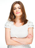 Casual style dressed woman portrait Royalty Free Stock Image