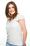 Casual style dressed woman portrait Stock Photo