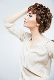 Casual style woman portrait. Royalty Free Stock Photos