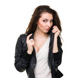Casual style woman portrait. Royalty Free Stock Image