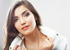 Casual style woman portrait . Stock Images