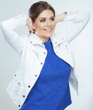Casual style woman portrait . Stock Photo