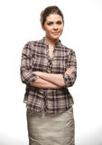 Casual style woman portrait. Royalty Free Stock Photography