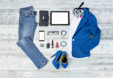 Casual and stylish clothing setup for women Stock Photography