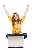 Casual success girl Royalty Free Stock Photo