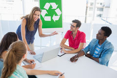 Casual team having meeting about eco policy Royalty Free Stock Photography
