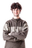 Casual teen. An handsome casual guy, maybe a student, isolated over white background Stock Photo