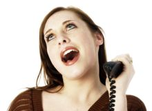 Casual Teen on Landline Royalty Free Stock Image