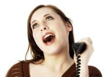 Casual Teen on Landline royalty free stock image