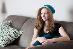 Casual teen relaxing Royalty Free Stock Image