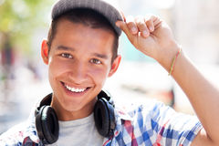 Casual teenage boy Royalty Free Stock Images