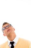 Casual teenager looking upwards Royalty Free Stock Photo
