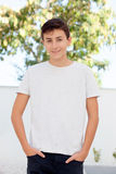 Casual Thirteen year old teenage boy Stock Images