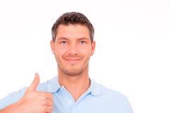 Casual thumb man Stock Image