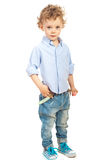 Casual toddler boy with blond hair Stock Photo