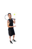Casual toss of the tennis ball Stock Photo