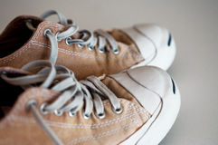 Casual trainers close up. On white background Royalty Free Stock Photo