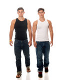 Casual Twins Stock Photography