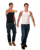 Casual Twins Royalty Free Stock Photo