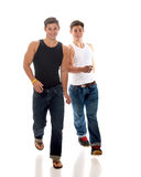 Casual Twins Royalty Free Stock Image