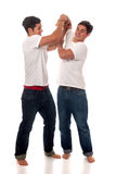 Casual Twins Stock Image