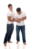 Casual Twins Stock Images