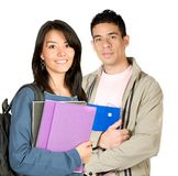 Casual university students Stock Images