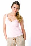 Casual wear. Beautiful Marina wears a casual outfit in this lifestyle look Royalty Free Stock Photo