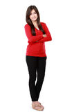 Casual woman with arms crossed Stock Photography