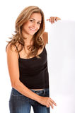 Casual woman - banner ad Royalty Free Stock Photos