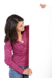 Casual woman - banner add Stock Photo