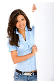 Casual woman - banner add Royalty Free Stock Photo