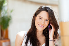 Casual woman cell Royalty Free Stock Photos