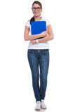 Casual woman with clipboard Stock Photography