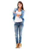Casual woman in denim Stock Photo