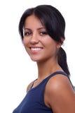 Casual woman face smiling Stock Photos