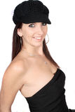 Casual woman with hat Stock Images