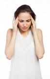 Casual woman having a headache Stock Photos