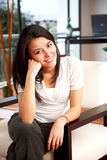 Casual woman at home Royalty Free Stock Photo