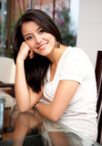 Casual woman at home Stock Image