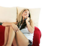 Free Casual Woman Is Calling Stock Photography - 2620122